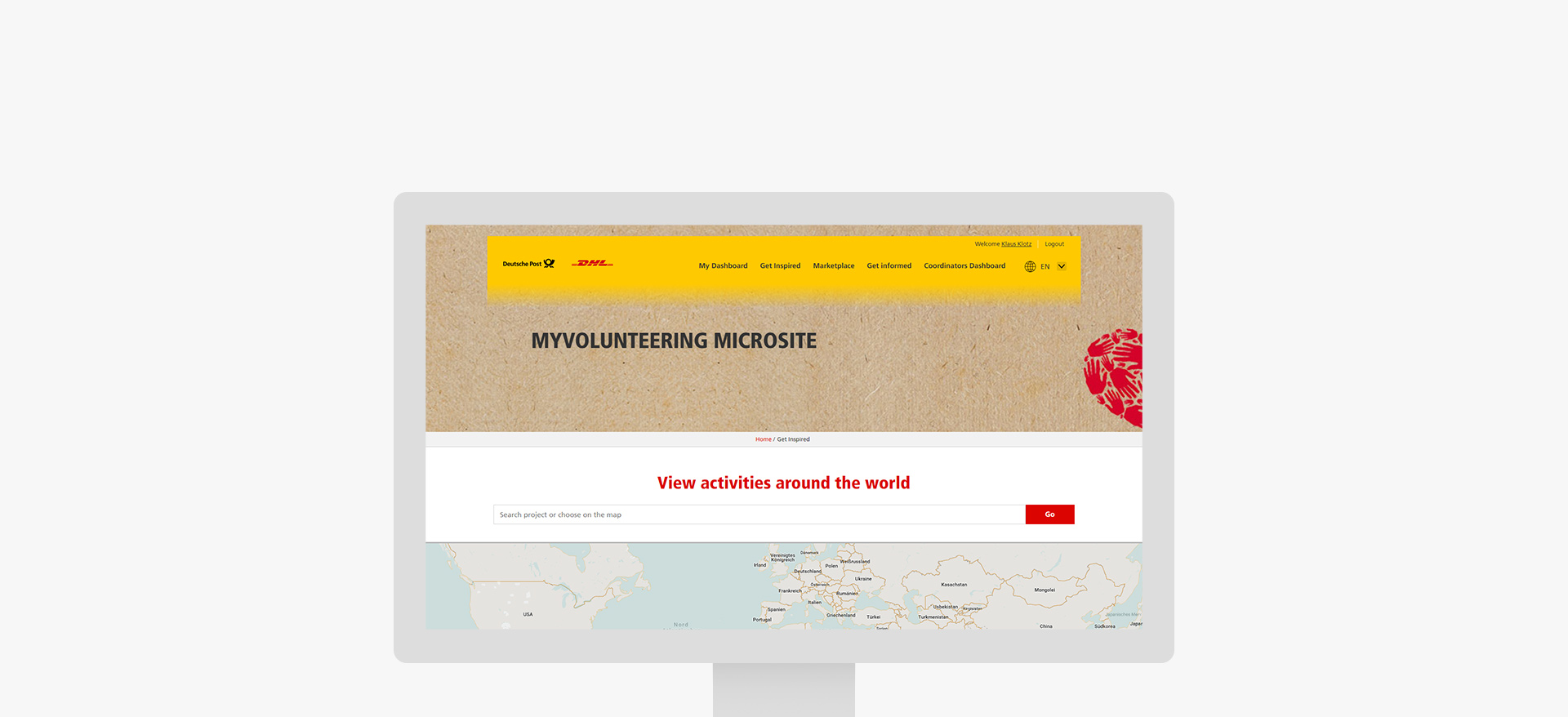 TYPO3 Plattform für Global Volunteer Day der Deutsche Post DHL Group
